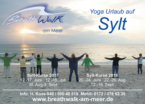 Infokarte BreathWalk am Meer